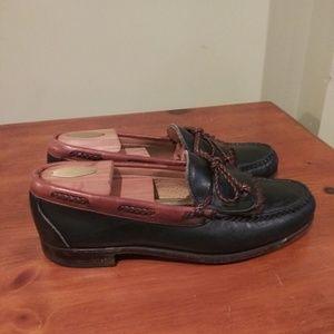 Other - Allen Edmond Mens Leather Tassel Loafers Size 9